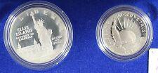 **1986** United States Liberty Coin Set, Silver $1 & Nickel Half Dollar