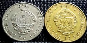 1970 Costa Rica 50 Centimos & 1999 50 Colones coin 2pcs(plus FREE 1 coin) #D2925