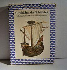 """02 180 DDR Lehrquartett """"Geschichte der Schifffahrt (3. Ausführung)"""""""