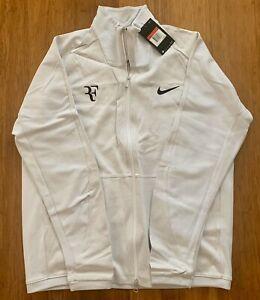 NWT Nike Tennis PREMIER Men's Roger Federer RF WHITE Tennis Jacket! SIZE LARGE!