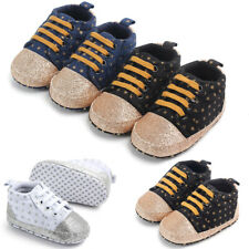 Newborn Infant Baby Girls Boys Crib Soft Sole Anti-slip Sneakers Casual Shoes