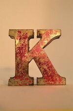 FANTASTIC RETRO VINTAGE STYLE RED 3D METAL SHOP SIGN LETTER K ADVERTISING FONT