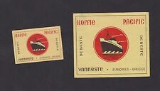 Ancienne étiquettes Allumettes Belgique BN22429 Café Pacific Bateau