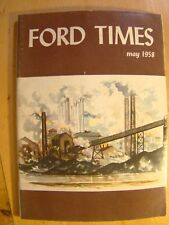Ford Times Magazine May 1958 Detroit Skyline Station Wagon Living Vancouver