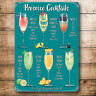 Vintage Style Retro Metal Sign PROSECCO COCKTAILS Kitchen Wall Art Picture Gift