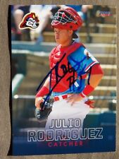St Louis Cardinals Julio Rodriguez Signed 2018 Peoria Chiefs Auto Card