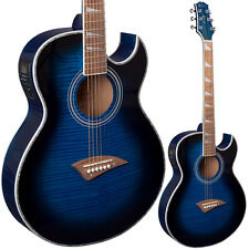 Lindo ORG-SL Slim Blue Electro Acoustic Guitar | Preamp Chromatic Tuner + Extras