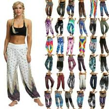 Fashion Women Boho Gypsy Floral Print Harem Trousers Baggy Casual Loose Pants