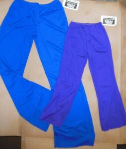 NWT WOlff Fording & Co  DANCE COSTUME PANTS CHILD SIZES Royal Blue & Plum 71002