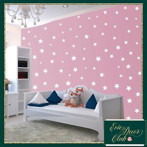 White Star Wall Stickers Decal Child Vinyl Art Decor Spots Circle Baby Nursery