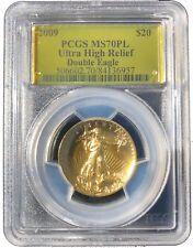 2009 $20 Ultra High Relief Double Eagle PCGS MS70PL Gold Foil Label