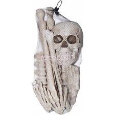 NEW Bag of Bones 12 Piece Skeleton Pieces Halloween Decoration Props