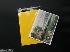 50 A7+ 5.4 x 7.5 Clear Resealable Cellophane Cello Poly Bag Fits Envelope + card