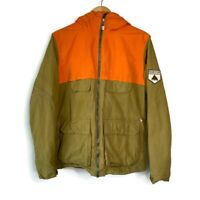 Burton Men's Tan & Orange Winter Dry Ride Snowboarding Skiing Snow Jacket Coat