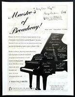 "1995 ""Maestro's of Broadway"" Gershwin Etc Autograph Auction PIH vintage print ad"
