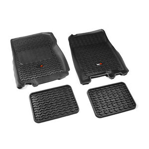 Fits Ford F150 01-03 Expedition 97-02 Black  Floor Liners Front and Rear