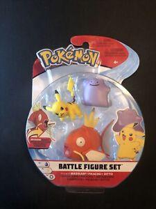 Pokemon Battle Figure Set Magikarp & Pikachu & Ditto Figures Jazwares New