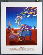 Finger Lakes Music Festival 1985, Rochester NY, Poster Bob Conge RPO Piano