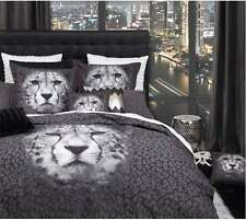 LOGAN & MASON CHEETAH ANIMAL PRINT KING bed QUILT DOONA COVER SET tiger leopard
