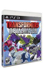 NEW Transformers Devastation (Sony Playstation 3, 2015)