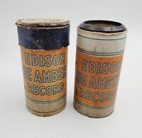 2- VTG Ediphone Edison Blue Amberol Phonograph Cylinder Records #'s 4001 & 4228