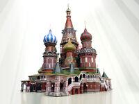 Cathedral of Basil the Blessed Building Terrain Landscape Cardboard Model Kit