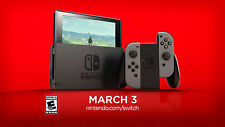 Nintendo Switch Console   Black Joy-Con   Brand New   Ships Today! NES