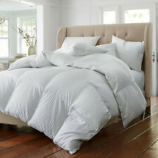 Beautiful Soft Down Alternative White Luxury Stripe Comforter Queen & King Szs