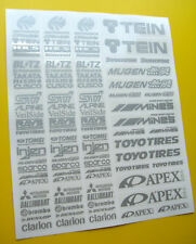 RC Drift argent autocollants stickers HPI Losi Drift-R Kyosho