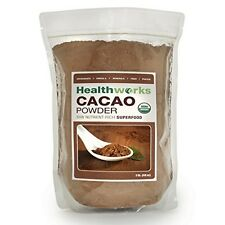 Raw Cacao Powder Organic Certified Cocoa Chocolate 3 Lb Value Pack Healthworks