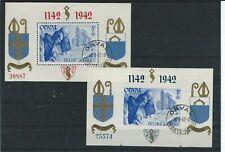 Belgie Orval blokken 1942  getand/ongetand gestempeld pr. ex.