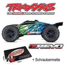 Traxxas E-Revo Brushless Monster Truck TRX86086-4 Grün Blau + •Schraubermatte