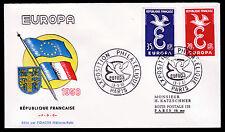Frankreich 1210-11 FDC-Flaggen, CEPT 1958