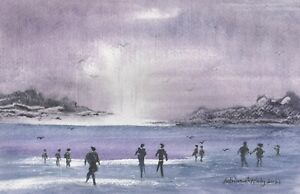 THE FAR SANDS -  an original watercolour painting by ADRIAN APPLEBY