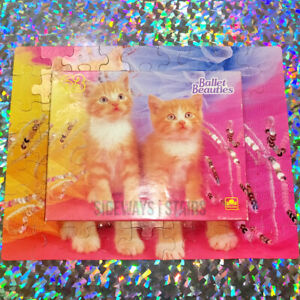 BALLET BEAUTIES CAT PUZZLE vintage 90s cute kittens orange tabby cats kitty RARE