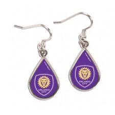 Orlando City SC Women's MLS WinCraft Purple Tear Drop Earrings