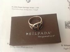 SILPADA .925 STERLING SILVER PEACE RING R2004 SIZE 6