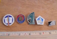 Russian Soviet Space pin lot of 5 from large collection Astronauts rockets 1P