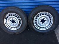 VW CRAFTER 2X SPARE WHEEL STEEL RIM 235/65 R16 c TYRE Michelin Agilus