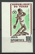 Tchad Chad Sport Jeux Games Spiele Non Dentele Imperf Ungezahnt Ongetand ** 1962