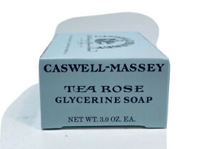 Caswell-Massey Glycerin Soap 3.5oz/99g TEA ROSE Bath Soap Bar ~ Sealed in Box