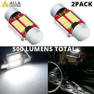 LED White Interior Dome Light Bulbs for Old Toyota T100 Pickup Trucks Short 28mm