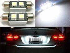 White Canbus Error Free LED License Plate Lights 6418 C5W 36mm Festoon Tag #D7