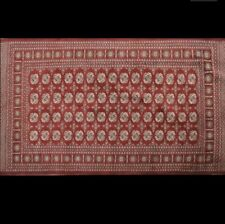 Turkmen Red Wool Rug Hand Knotted