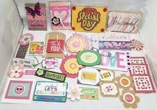 20 Handmade Scrapbooking Cardmaking Journaling EMBELLISHMENTS - Lot #1 Birthday