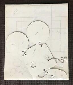 Original CLAES OLDENBURG Geometric Mouse Scale D 1971 Movable 3-D Multiple Print