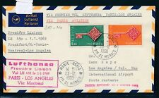 13523) LH FF Paris - Los Angeles 8.1.69, Brief ab Monaco, Satz CEPT