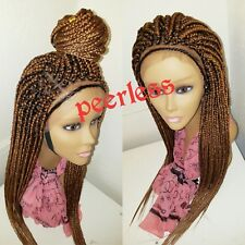 Fully hand braided lace frontal (ear to ear lace) box braids wig color 30