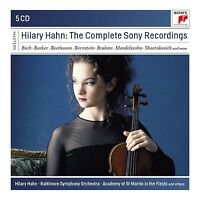 HILLARY HAHN - HILARY HAHN-THE COMPLETE SONY RECORDINGS 5 CD NEU VARIOUS