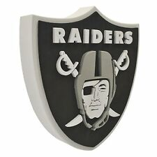 "New NFL Oakland Raiders 3D Fan Foam Logo Holding / Wall Sign 13.9"" x 14.7"""